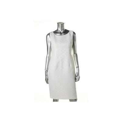ドレス 女性  キャスパー Kasper 7512 レディース Textuレッド Polka Dot ノースリーブ Wear to Work ドレス
