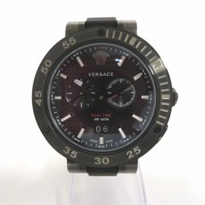 ヴェルサーチ V-エクストリーム プロ デュアルタイム VECN00219 クォーツ 時計 腕時計 メンズ【中古】