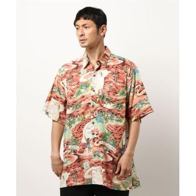 シャツ ブラウス 【Go Barefoot】 Land of Aloha - Loose Fit Camp Collar