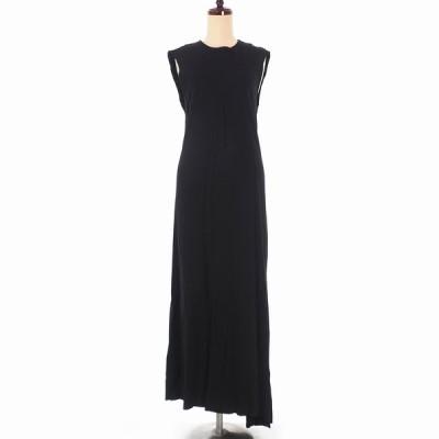 【中古】未使用品 アンドゥムルメステール ANN DEMEULEMEESTER 19AW DRSSE JASMIN バックスリット ロング ワンピース ドレス ノースリーブ 36 ブラック 黒