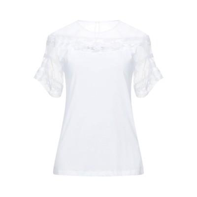 エルマノ シェルヴィーノ ERMANNO SCERVINO T シャツ ホワイト 42 コットン 100% / ポリエステル / ナイロン T シャツ