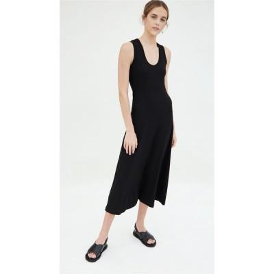 ロゼッタゲティー Rosetta Getty レディース ワンピース タンクドレス ワンピース・ドレス U-Neck Tank Dress Black