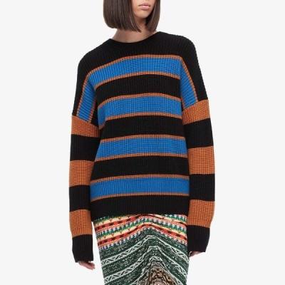 エーエルシー ニット&セーター アウター レディース Roman Striped Sweater Cobalt/Caramel/Black