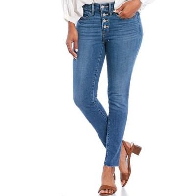 リーバイス レディース デニムパンツ ボトムス Levi'sR Shaping Skinny Exposed Button Front Ankle Jeans
