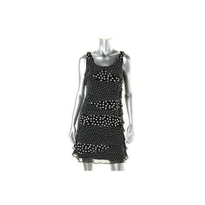 ドレス 女性  エスエルファッションズ SL ファッションs 2761 レディース ブラック Chiffion Tieレッド Polka Dot Party ドレス 10