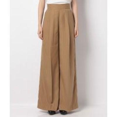 シスレー(ファッション)ストライプバックジップワイドパンツ