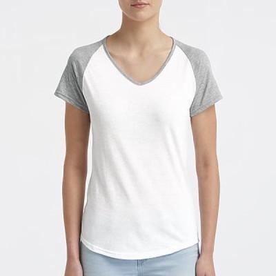 レディース 衣類 トップス Anvil Women's Tri-Blend V-Neck Raglan Tee 6770Vl Tシャツ