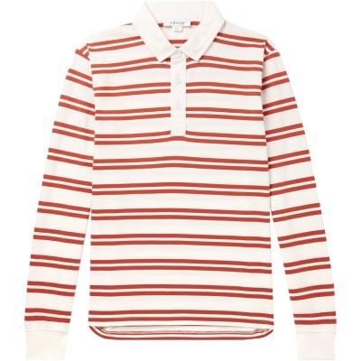 フレームデニム FRAME ポロシャツ レンガ XS コットン 100% ポロシャツ