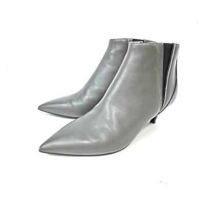 エルメス靴 ショートブーツ 36サイズ サイドゴアブーツ グレー HERMES