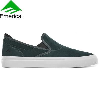 EMERICA WINO G6 SLIP-ON SKATE VAN SKATEBOARD SHOES GREENWHITE エメリカ スケートボード スケボー シューズ スニーカー グリーンホワイト 20s