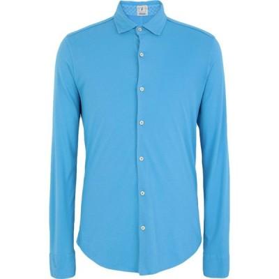 ドルモア DRUMOHR メンズ シャツ トップス Solid Color Shirt Sky blue