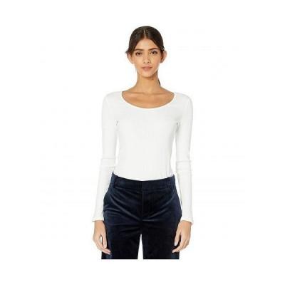 Vince ヴィンス レディース 女性用 ファッション セーター Long Sleeve Deep Scoop Neck - Off-White