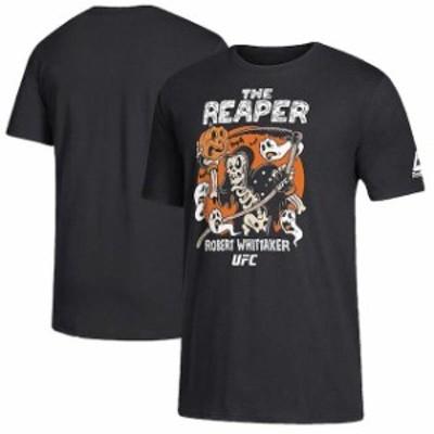 Reebok リーボック スポーツ用品  Reebok Robert Whittaker Black UFC Halloween Theme T-Shirt