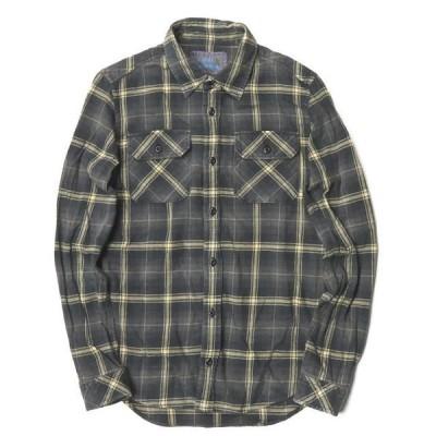 ロンハーマンヴィンテージ R.H. VINTAGE 日本製 コットンフランネルチェックワークシャツ 021070078 XS グレー 長袖 トップス