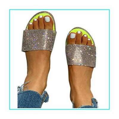 Sandals for Women Platform, Crystal Comfy Platform Sandal Shoes Summer Beach Travel Shoes Sandal Ladies Flip Flops【並行輸入品】