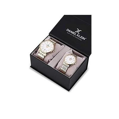 【新品】Daniel Klein His and Her Wrist Watch Set (DK12240-3) - Stainless Steel - 33