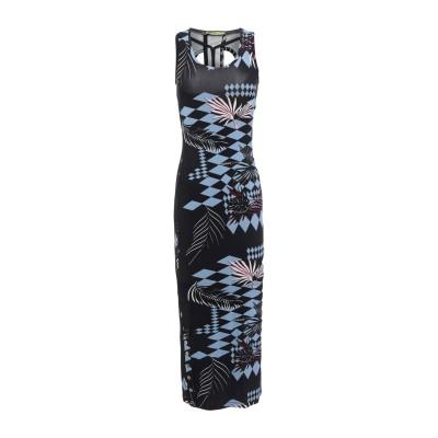 VERSACE JEANS 7分丈ワンピース・ドレス ブラック 36 レーヨン 90% / ポリウレタン 10% 7分丈ワンピース・ドレス
