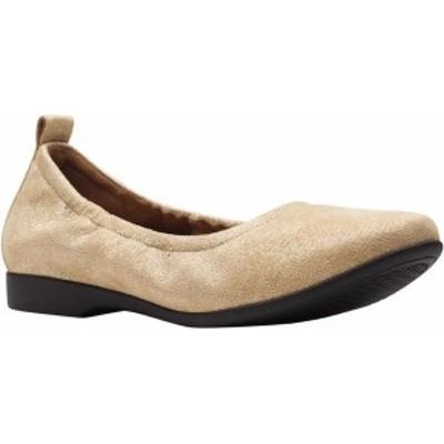 クラークス レディース パンプス シューズ Women's Clarks Un Darcey Vibe Ballet Flat Gold Metallic Suede