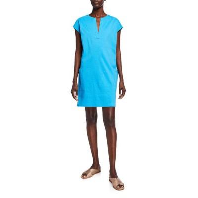 セオリー レディース ワンピース トップス Saturnina Eco Crunch Wash Shift Dress
