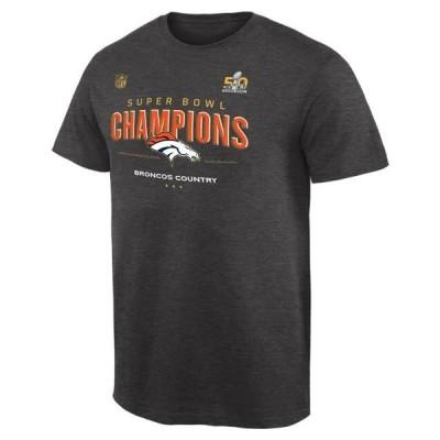 ユニセックス スポーツリーグ フットボール Denver Broncos Super Bowl 50 Champions Trophy Collection Locker Room T-Shirt - Dark Gray