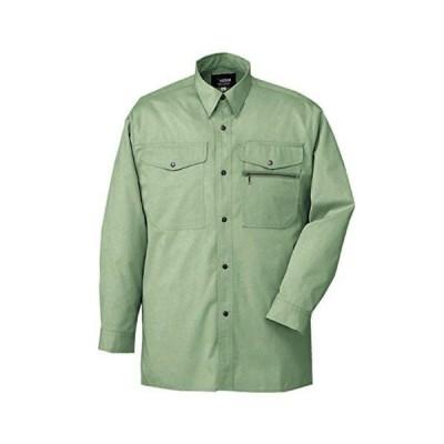 ミドリ安全 作業者に対する配慮から メンズ 長袖シャツ GS2156N アースグリーン 4L