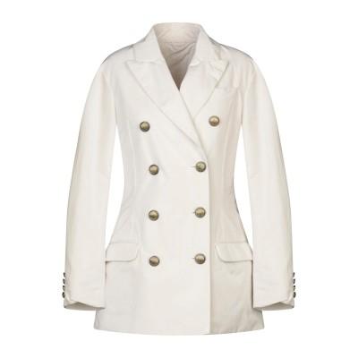 ブルネロ クチネリ BRUNELLO CUCINELLI テーラードジャケット ホワイト 42 ポリエステル 70% / シルク 30% / 真鍮/