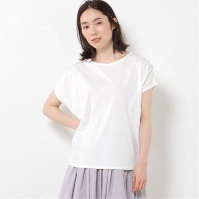 肩タックフレンチスリーブTシャツ オフホワイト M L