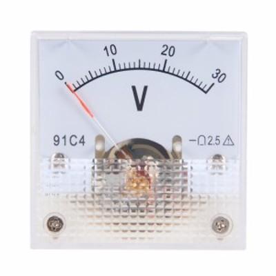 uxcell 電圧計 アナログパネル電圧ゲージ ABSプラスチック DC 0-30V 2.5%エラー 91C4