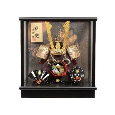No.505-151 五月人形 コンパクト 5号 源義経 三品飾り付き 兜ケース