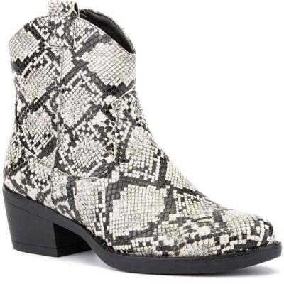 オリビアミラー Olivia Miller レディース ブーツ ショートブーツ シューズ・靴 'Secret Keeper' Ankle Boots Grey Snake