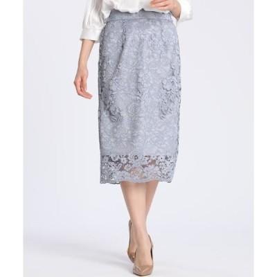 CLEAR IMPRESSION / クリアインプレッション スカラップレースタイトスカート