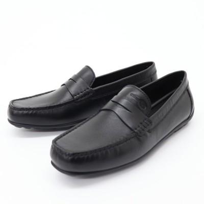 ジェオックス GEOX ローファー メンズ ビジネスシューズ スリッポン 紳士靴 革靴 レザー U FAST B ブラック 黒 U9451B