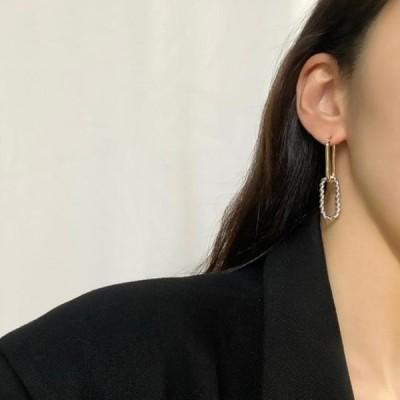 picknfit レディース イヤリング Noi Combi Two-Way Nickel-Free Needle Earrings