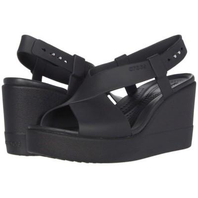 クロックス Crocs レディース サンダル・ミュール ウェッジソール シューズ・靴 Brooklyn High Wedge Black/Black