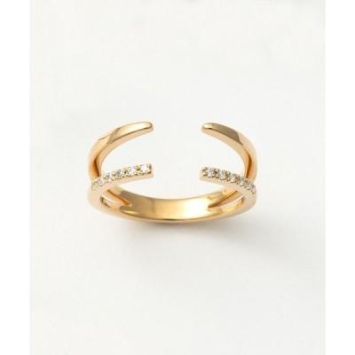 指輪 フォークリング ジルコニア