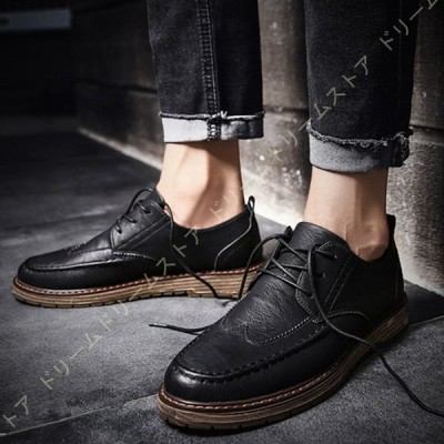 メンズローファー ビジネスシューズ 横幅ゆったり 革靴 カジュアル おすすめ 軽量 ウォーキングシューズ レースアップ プレゼント 紳士 学生 通学 コンフォー