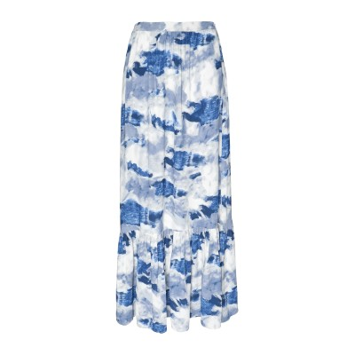 8 by YOOX ロングスカート ブルー 44 レーヨン 100% ロングスカート