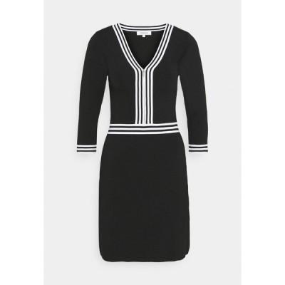 モーガンレーン ワンピース レディース トップス Shift dress - noir/off white