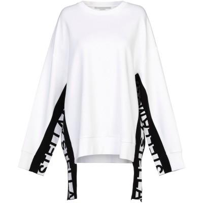 ステラ マッカートニー STELLA McCARTNEY スウェットシャツ ホワイト 38 コットン 80% / ナイロン 20% スウェットシャツ