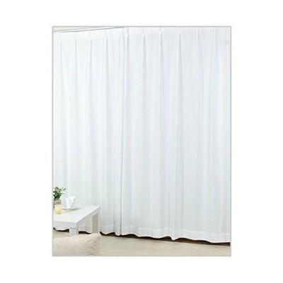 昼夜透けない魔法のレースカーテン UV93%カット+安心の日本製+洗濯可能+プライバシー保護 (巾100cm×丈118cm 2枚組