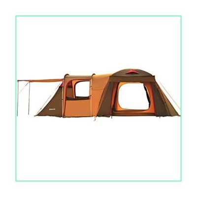 Tent Family Camping Quality Tunnel Camping Outdoor to Increase Camping Camp 5-8 People Two-Bedroom One-Bedroom Family (Color : Brown, Size : 510250185