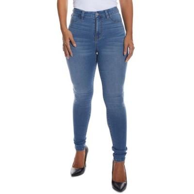 ドールハウス レディース デニムパンツ ボトムス Juniors' Curvy-Fit High-Rise Skinny Jeans