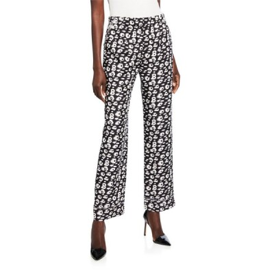 ブランドン・マクスウェル レディース カジュアルパンツ ボトムス Cheetah-Print Shantung Pajama Pants