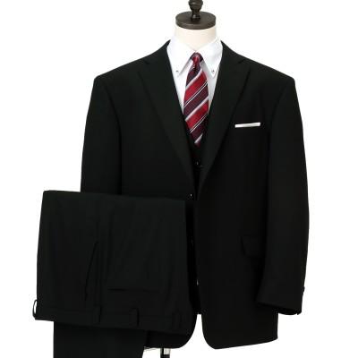 【SizeMAX】アスリートマックス 黒織柄ストライプ スリーピーススーツ LES MUES スリム
