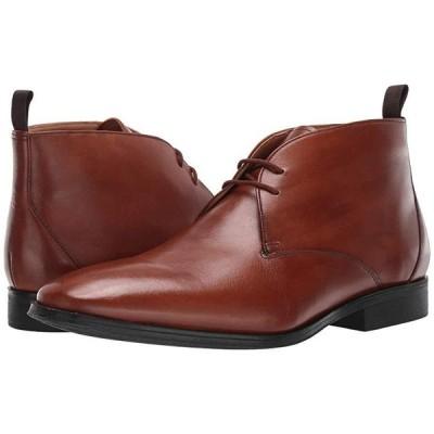 クラークス Gilman Mid メンズ ブーツ Dark Tan Leather