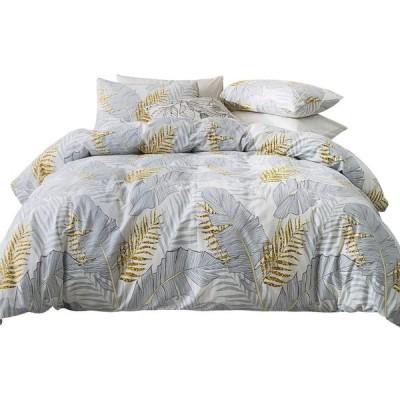 布団カバー 4点セット 寝具カバー セット クイーン ベッド用 布団用 掛け布団カバー 花柄 北欧 肌に優しい