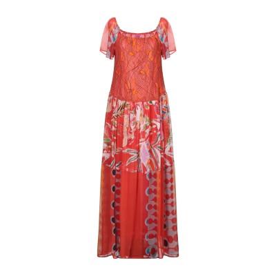 SAVE THE QUEEN ロングワンピース&ドレス オレンジ S ポリエステル 100% ロングワンピース&ドレス