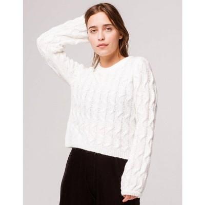 ボルコム VOLCOM レディース ニット・セーター トップス Knits Up To U Sweater WHITE