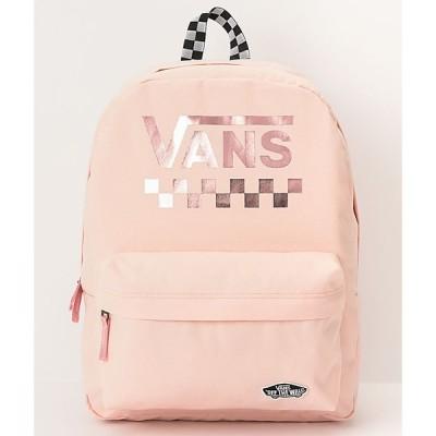 ヴァンズ VANS レディース バックパック・リュック バッグ sporty realm cloud pink checkerboard backpack Pink