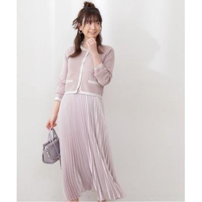 【プロポーション ボディドレッシング】 サテンプリーツスカート レディース グレージュ M PROPORTION BODY DRESSING